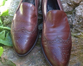 Brown Joan&David leather loafers
