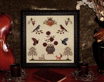 Flora Fauna - Antique Cross Stitch Pattern