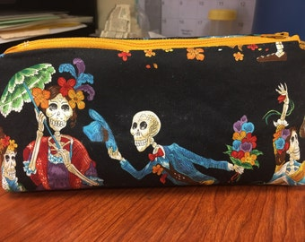 Dia de los Muertos, Hand Made Make-up Bag