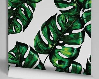 Monstera watercolor wallpaper