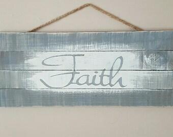 Hand painted Faith wall decor