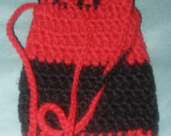 small crocheted bag