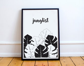 Junglist Graphic Art Print