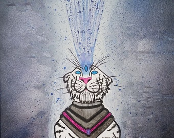 Abstract Painting: Extraterrestrial Tiger