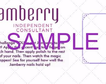 Jamberry 7 Day Challenge Template PRINTABLE