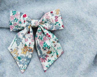 Liberty of London Hair Bow - Field Flowers Design Hair Accessory