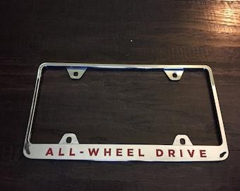 "OEM Tesla License Plate Letter Decals ""ALL-WHEEL Drive"""