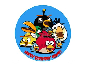 Personalised Angry Birds Edible Cake Topper Decoration