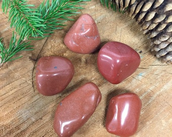 ONE Red Jasper Stone - Tumbled and Polished - Approximately 1 to 2 inches - Raw Rough - Wire Wrap Stone - Natural