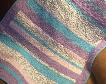 Handmade Nap time Blankie / Quilt