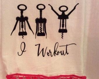 I Workout - Flour Sack Kitchen Towel