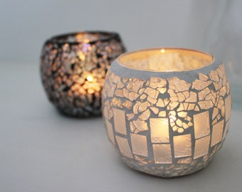 Pearl Mosaic Candle