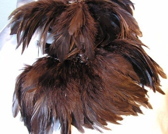 Brown rooster feathers , bulk, lot, wholesale, feather supply, hair extentions