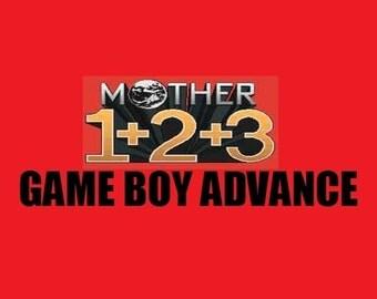 Mother 1+2+3 (ALL) GBA Earthbound Carts English Fan Translation Nintendo Game Boy Advance Custom Carts 1 + 2 + 3