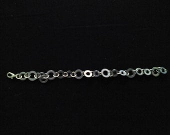 Industrial Silver and Stainless Steel Bracelet.