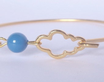 Bracelet band cloud and his Blue Pearl