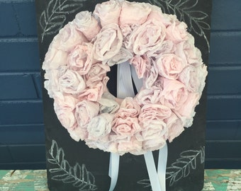 11 inch lavender garden rosette wreath