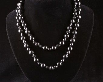 SHUNGITE NECKLACE BEADS 1000mm