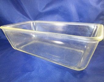 Pyrex Loaf Pan, 1919-1924, Clear Glass, Vintage, Loaf Baking Dish