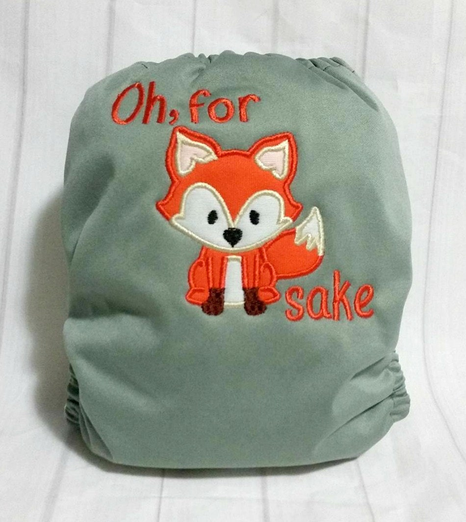 For Fox Sake Adult Cloth Diaper ABDL Diaper Adult Nappie