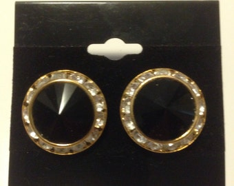 Swarovski Earrings Jet Black