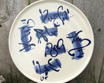 Music - Hand Painted Serving Platter