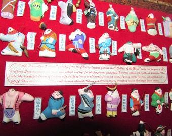 108 Liangshan Outlaws vintage display
