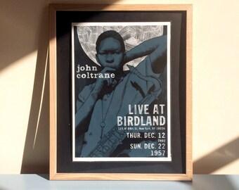 John Coltrane Live at Birdland - A3 gicleé print