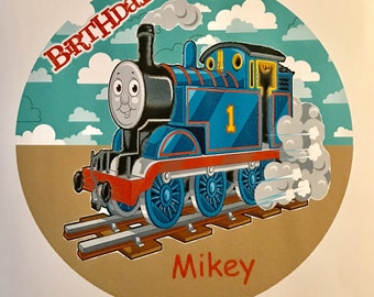Precut Thomas the Train frosting sheets for cakes, cupcakes or cookies
