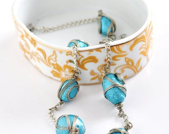 Necklace, Turquoise Necklace, Bijouterie Necklace, Turquoise Jewelry, Unique Design, Gift for Her, Ladies Present, Summer Accessory