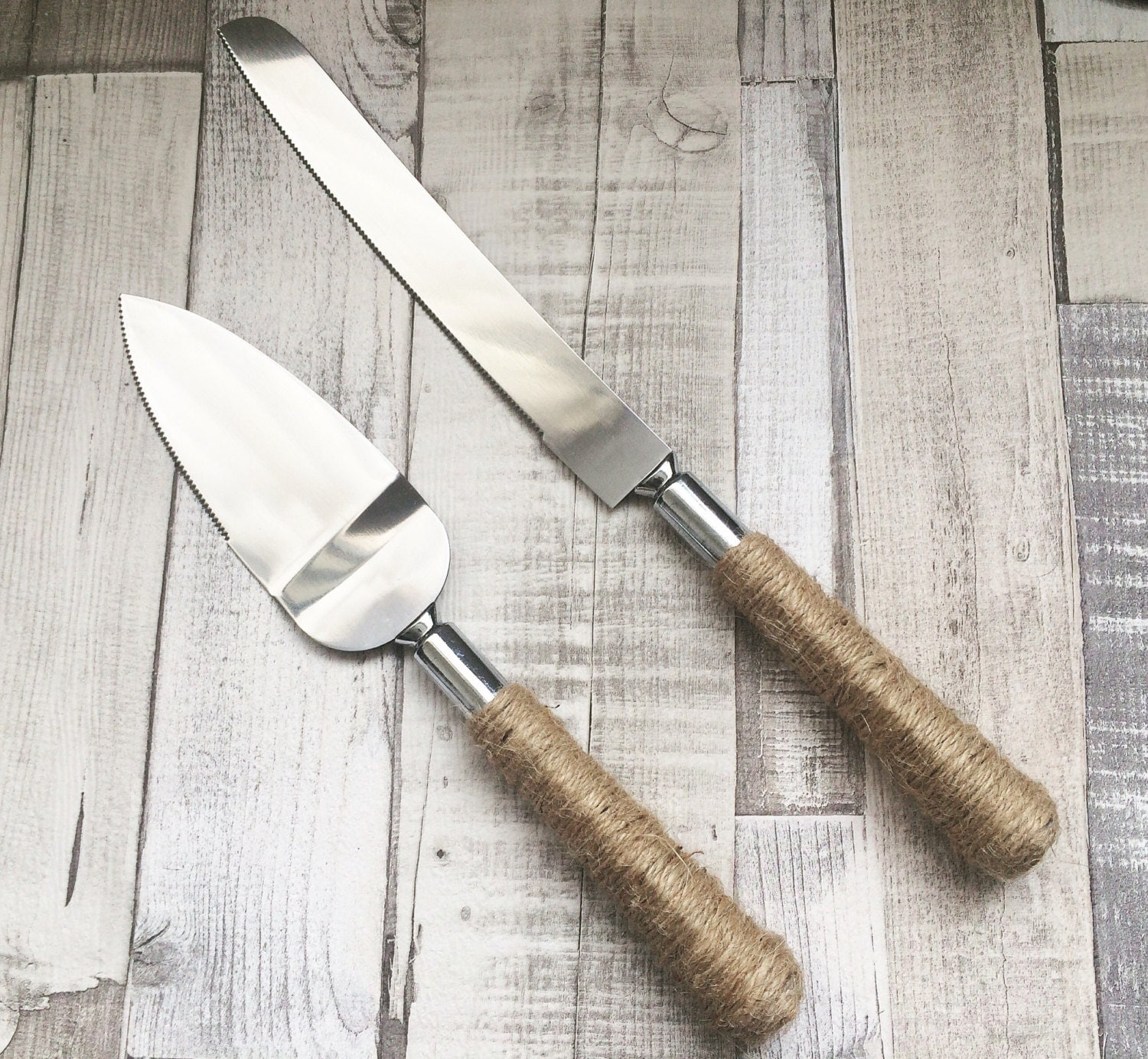 Rustic Cake Knife And Server