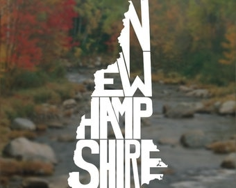 New Hampshire Decal, New Hampshire Sticker, Laptop Decal, Laptop Sticker, Macbook Decal