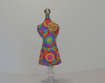 One of a Kind Pincushion Mannequin  Jewelry Holder