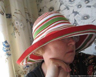 summer hat , hat crochet , hat, cotton , orange hat , beach hat , wide brim hat , women's hat