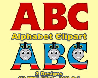 thomas train alphabet clipart 93 png files 300 dpi thomas letters train letters