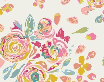 KNIT, Swifting Flora Fond, Fleet & Flourish Collection, Art Gallery Fabrics, Stretchy Fabric, Jersey Knit