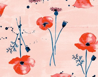 LAWN-Wildflower, Wanderlust Collection, Monaluna Fabrics, Apparel Fabric