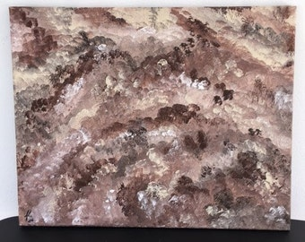 "Brown Hues - wall décor acrylic painting, 16""x20"" canvas stretched/wrapped on 5/8"" bars"