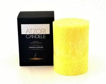 Jamaica Dream scented pillar candle