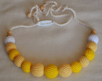 Baby Teething Necklaces (Natural Crochet Cotton Beads)