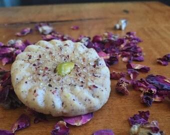 Pistachio Rose Shortbread