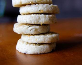 VEGAN Lavender Shortbread with Lemon Zest Sugar