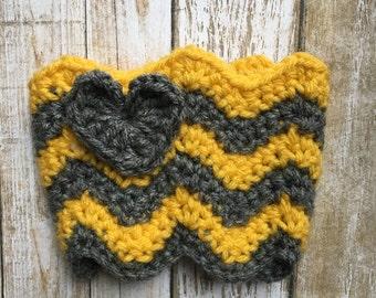 Crochet Chevron Coffee Cozy