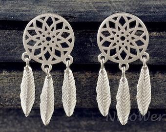 Silver earrings women's earrings jewelry earrings 925 gift SOR116