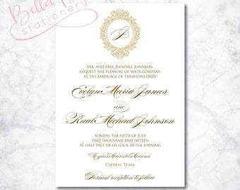 Anastasia Wedding Invitation Design