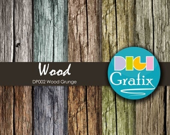 SALE Grunge Wood Digital Paper - Grunge Wood, Wood Grunge Digital Paper, Printable Paper, Wood Grunge Birthday Party, Wood Grunge paper