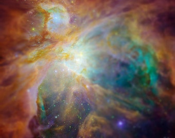 Tilt Shift Orion Nebula Hubble NASA Photographic Print 8x10 inch FREE SHIPPING