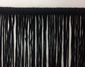 "Chainette Fringe 32""Long Black(Price per yard )"