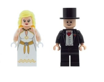Custom Designed Minifigures - Wedding Bride and Groom