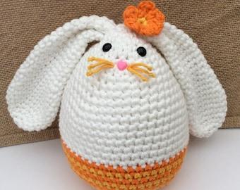 CROCHET PATTERN - Megg Easter Egg Bunny by Cotton Pod